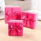"""Набор коробок 3 в 1 """"Событие"""", розовый, 13 х 13 х 7,5 - 9 х 9 х 5,5 см"""