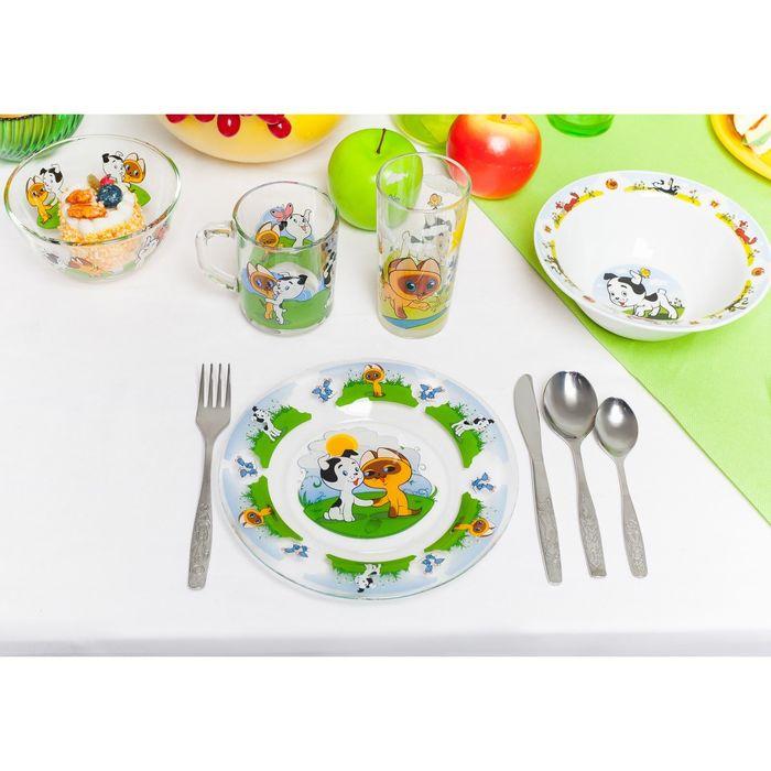 """Набор посуды """"Котенок по имени Гав"""", 3 предмета: кружка 200 мл, салатник 300 мл, тарелка 20 см - фото 149703006"""