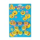 "A set of puzzle rings ""Funny emoticons"" (set 8 PCs) MIX color"