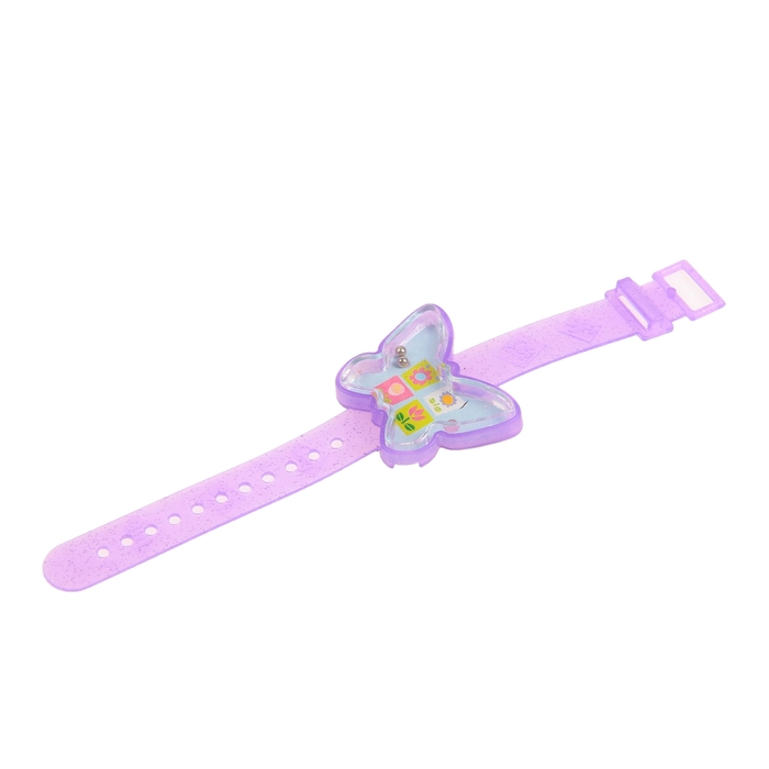 "Головоломка ""Часы. Сердечки, бабочки"", набор 4 шт., цвета МИКС"