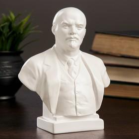 Бюст Ленин большой белый, 8х14х17см