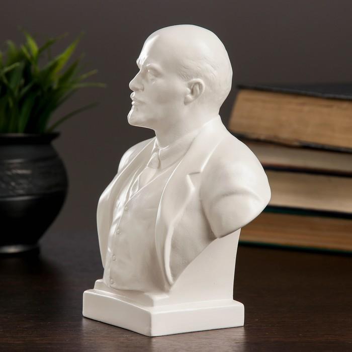 Бюст Ленин большой белый, 8х7х18 см