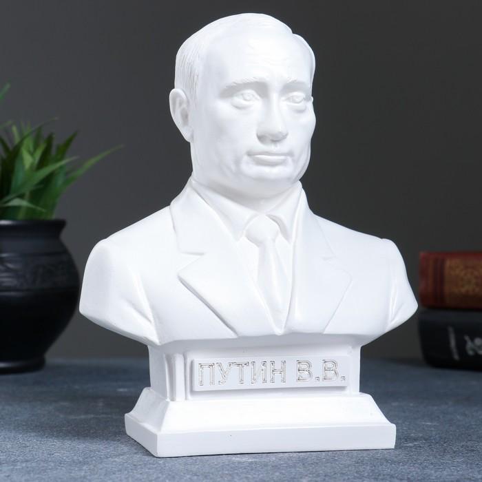 """Статуэтка """"Бюст Путина"""" белая"""