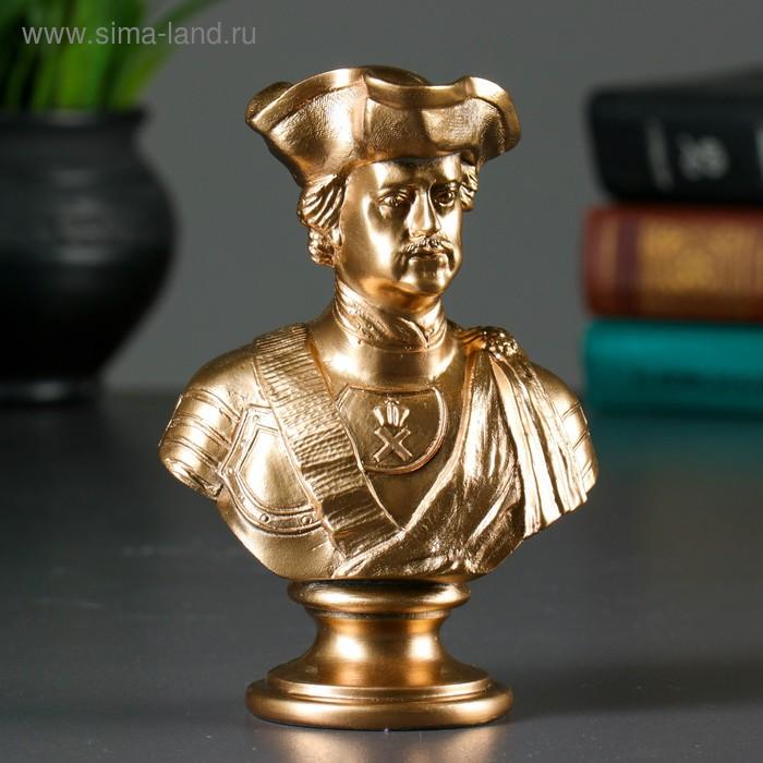 """Статуэтка """"Бюст Петра I"""" в треуголке, бронза"""