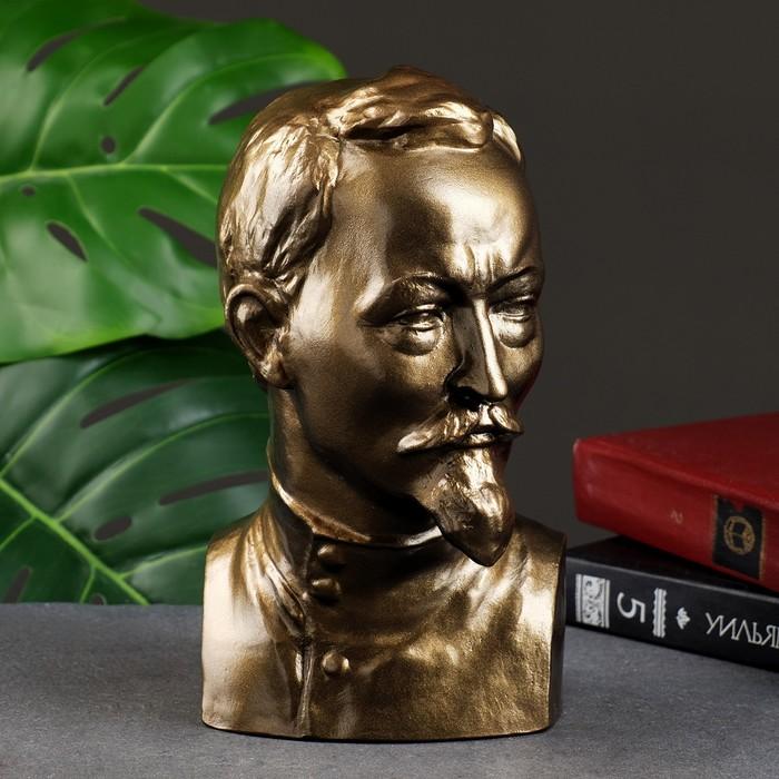 """Статуэтка """"Бюст Дзержинского"""" большая, золото"""