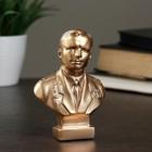Бюст Гагарин бронза,золото 11 см