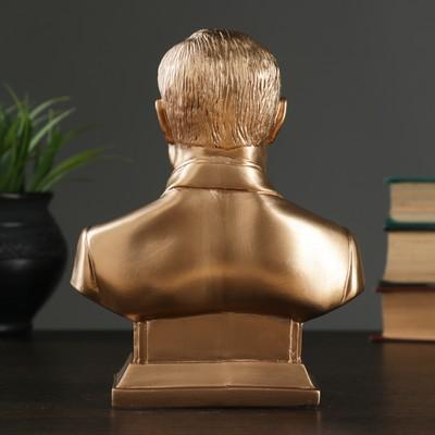 Бюст Путин бронза,золото 19 см