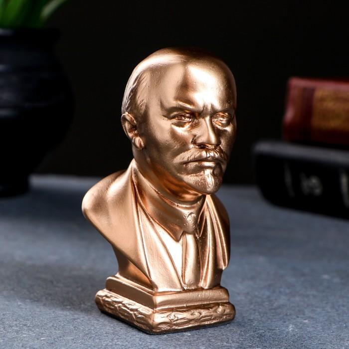 """Статуэтка """"Бюст Ленина"""" средняя, золото"""