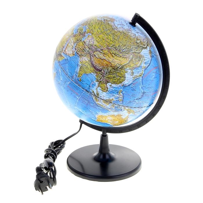 Глобус ландшафтный, диаметр 210 мм, с подсветкой