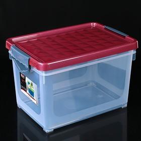 Контейнер для хранения с крышкой Systema, 19 л, 40×27×25 см, цвет МИКС