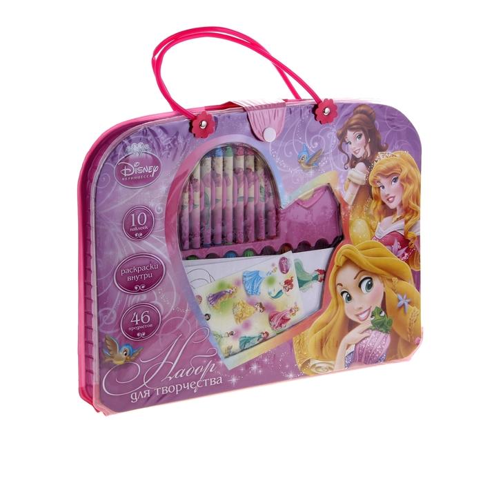 """Подарочный набор-сумочка 46 предметов Disney """"Принцессы"""""""