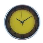 """Часы настенные круглые """"Два цвета"""", d=24,5 см, жёлто-коричневые"""
