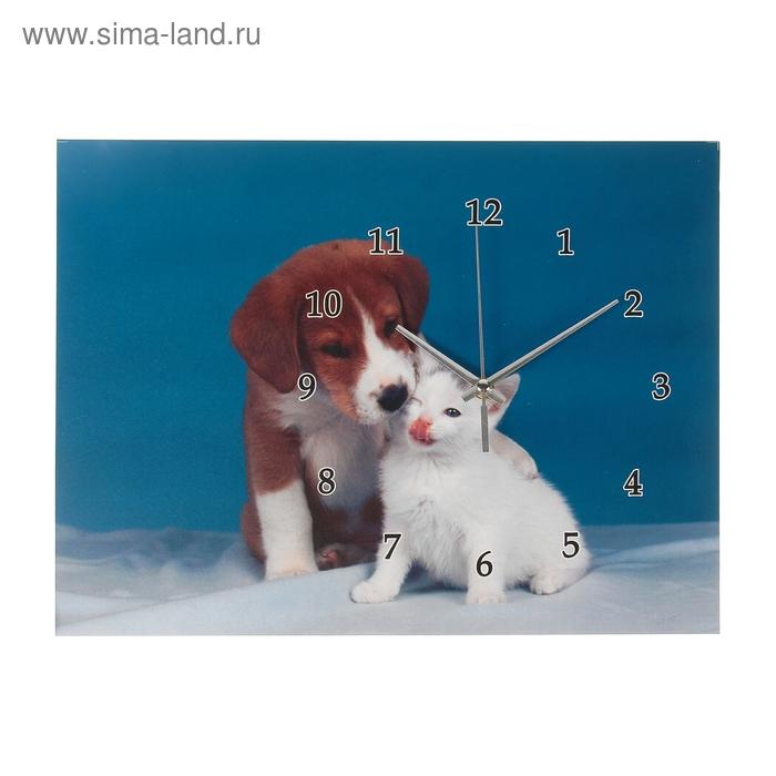 "Настенные часы-картина ""Дружба"", 30 × 40 см"