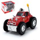 """Машина-перевёртыш """"Джип"""", работает от батареек, световые эффекты, цвета МИКС"""