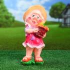 """Садовая фигура """"Гном корзинка с овощами впереди"""" 12х15х38см - фото 277220466"""