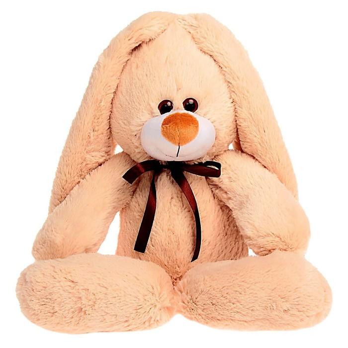 """Мягкая игрушка """"Заяц подарочный"""", цвет бежевый, 55 см"""