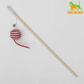 Teaser-a rod with a ball on a wooden handle