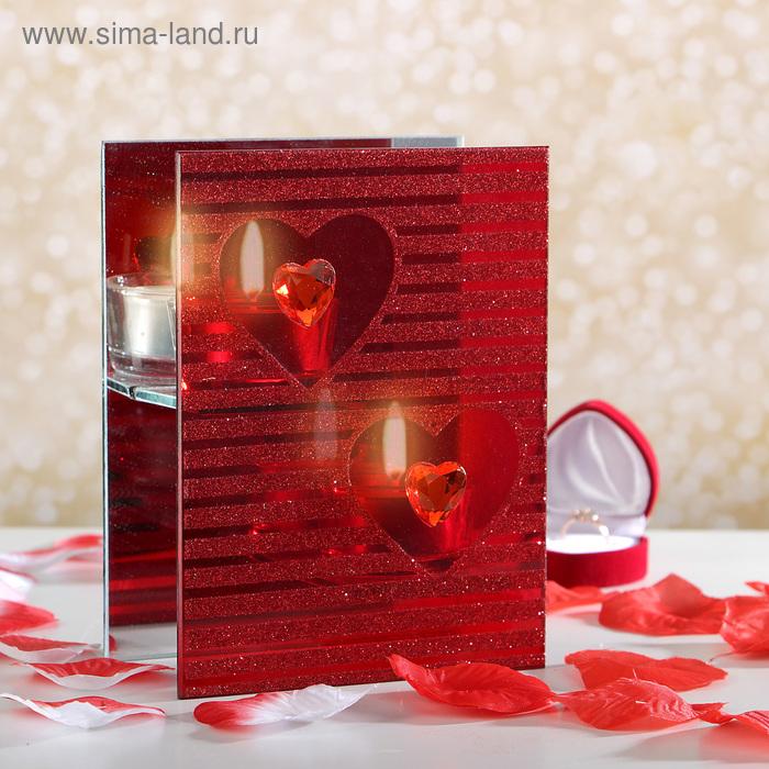 """Подсвечник на 2 свечи """"Сердца"""""""