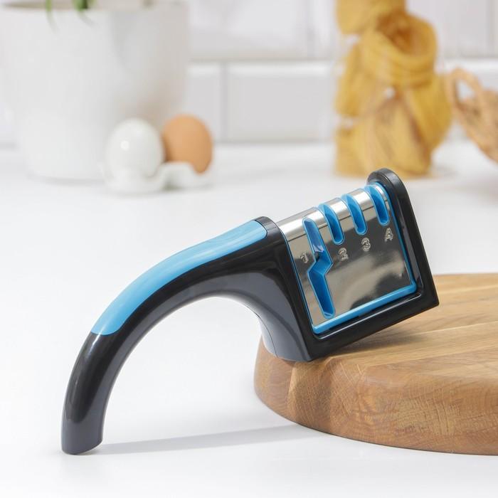 Точилка для ножей (металл, керамика) и ножниц, полировка, 22х8х6 см, цвета МИКС