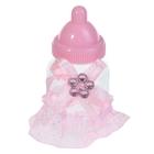 """Бонбоньерка """"Бутылочка с бантиком"""", цвет розовый"""