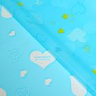 """Пленка """"Сердечки"""", цвет голубой, 60 х 60 см"""