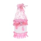 """Бонбоньерка """"Корзинка с мишкой и бантиком"""", цвет розовый"""