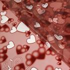 """Пленка """"Маленькие сердечки"""", цвет коричневый, 60 х 60 см"""