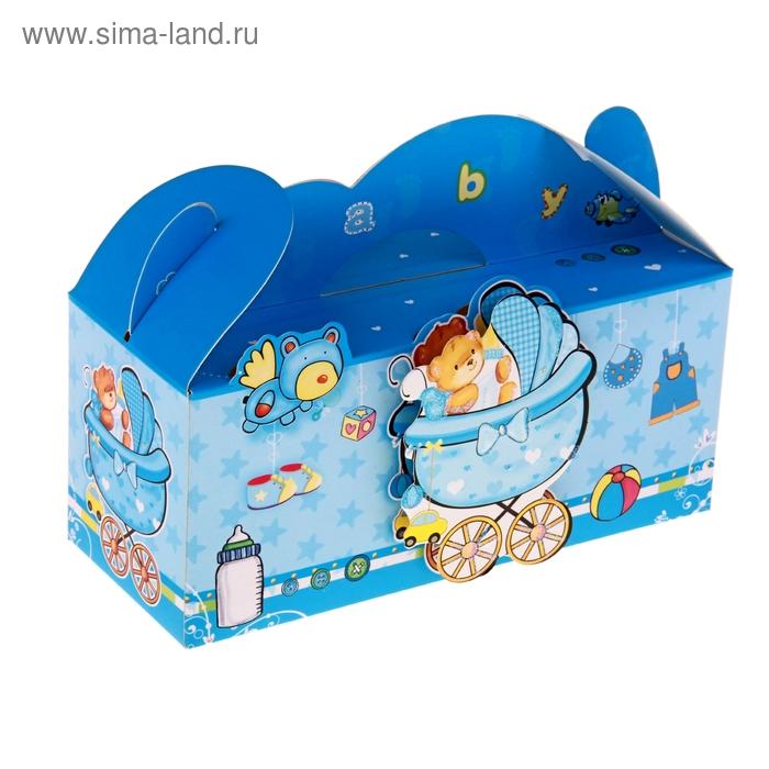 """Коробка сборная """"Мишка"""", цвет голубой"""