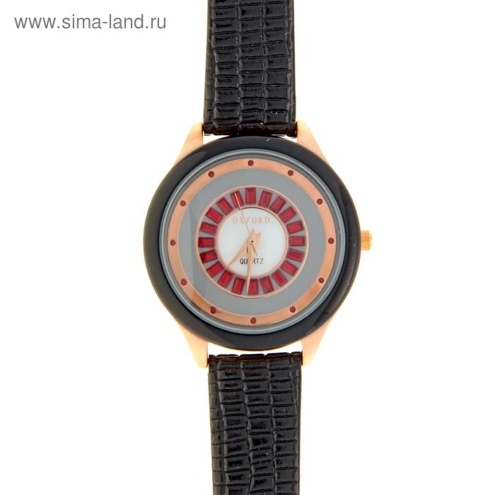 Часы наручные женские Oxford Fashion, черный корпус, черный ремешок