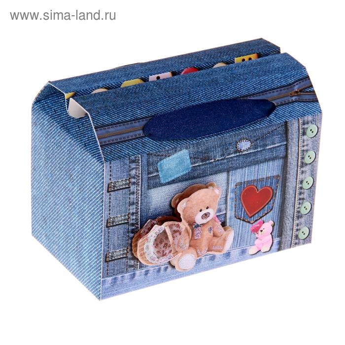 """Коробка-сундучок """"Мишки. Сердечная привязанность"""""""
