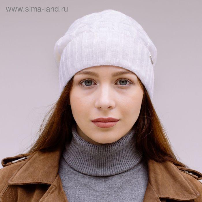 Шапка женская 419-022  ДАНА  демисезонная, р-р 56, цвет белый