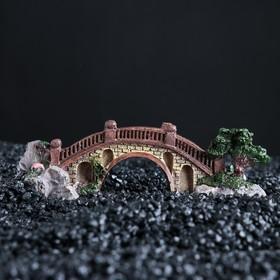 """Decor for aquarium """"Bridge"""", 15,5 x 6 x 5 cm"""