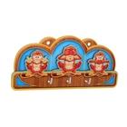 """Пано с крючками """"Три обезьяны"""""""