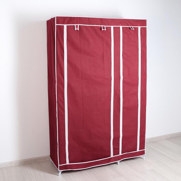 Шкаф для одежды 110×45×175 см, цвет бордовый