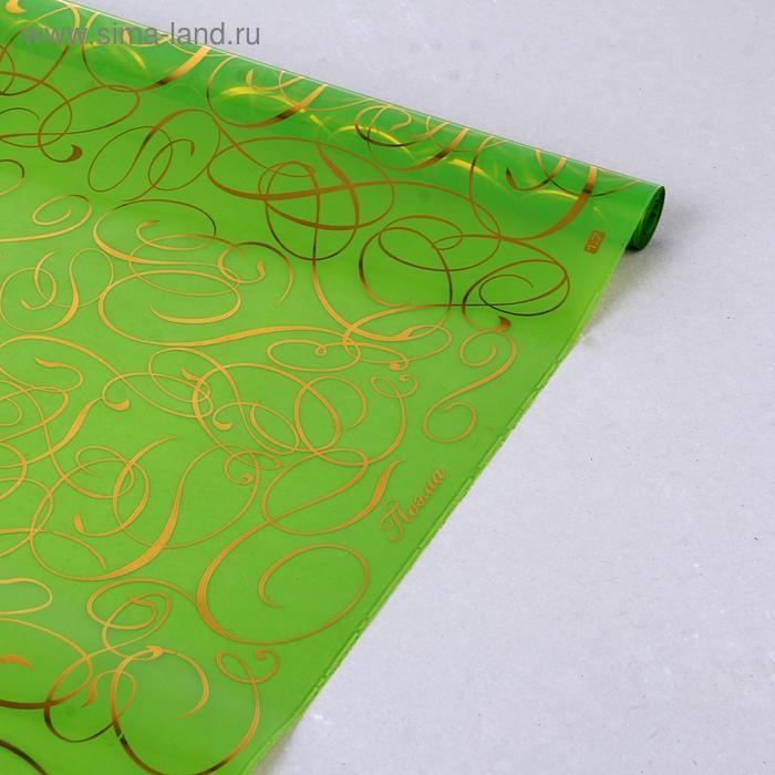 "Пленка для цветов GoldFlex ""Поэма"" зеленый 700 мм х 8.5 м"