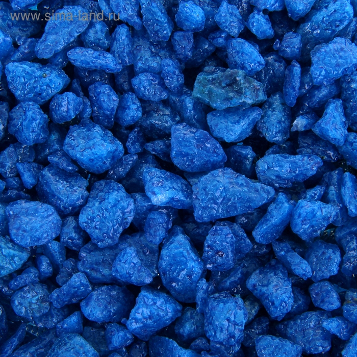 Грунт для аквариума, мраморная крошка голубая 2-5 мм, 3,5 кг