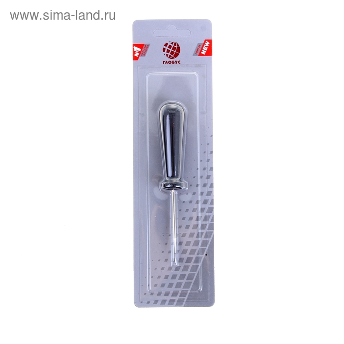 Шило универсальное игла 90 мм, d-2.5 мм, пластиковая ручка L-140 мм малое GLOBUS ШМ-01