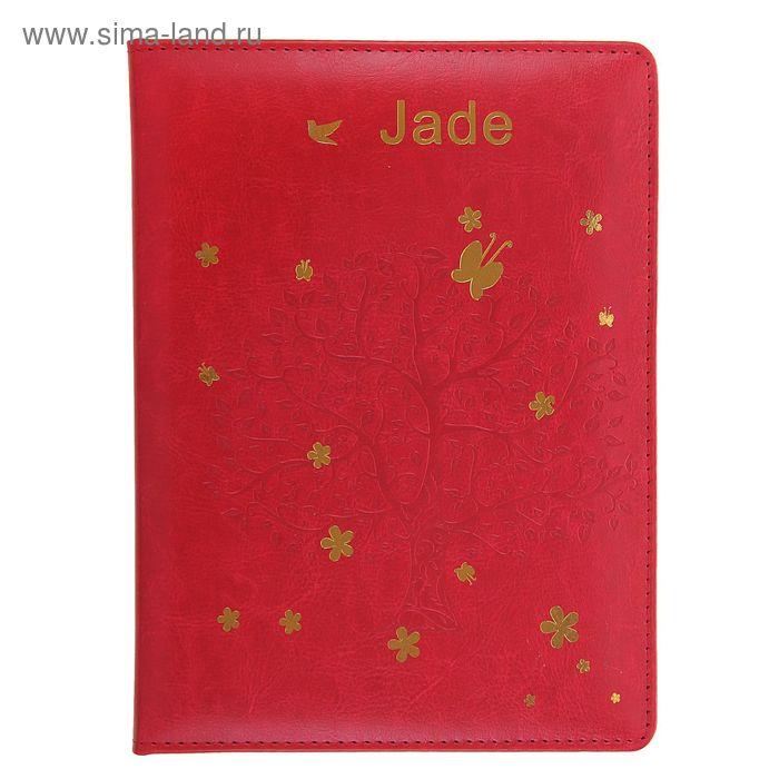 Дневник школьный для старших 5-11классов обл пвх тиснение Дерево красный