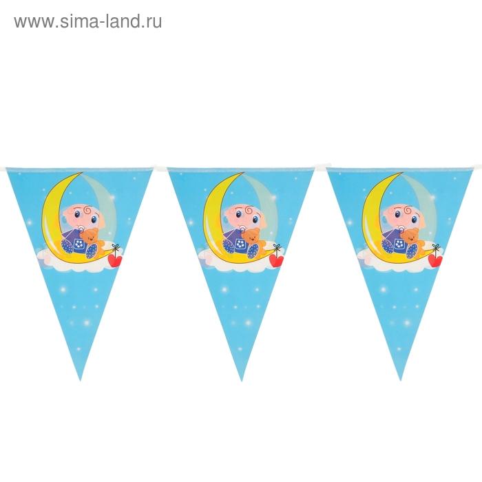 """Карнавальная растяжка """"Малыш"""", цвет синий"""