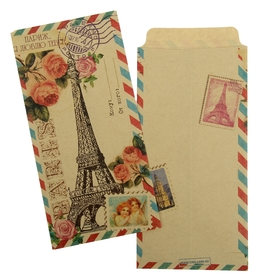"""Envelope the gift of """"Paris, I love you"""", of 17.6 × 8.8 cm"""