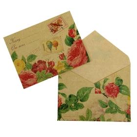 """Envelope gift """"Flowers"""", 7.5 x 9.8 cm"""