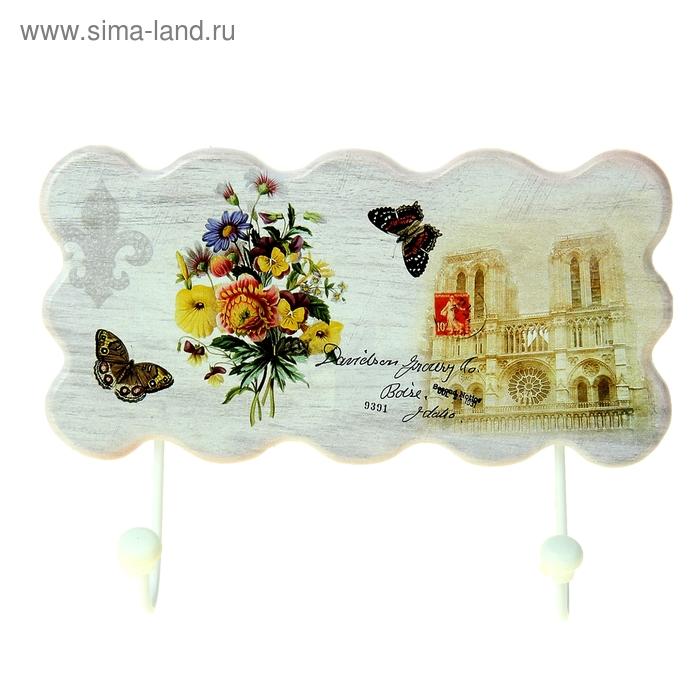 """Крючки декоративные """"Букет садовых цветов"""""""