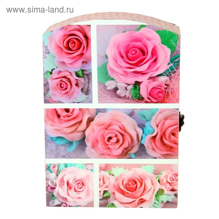 """Ключница """"Розовые розы"""""""