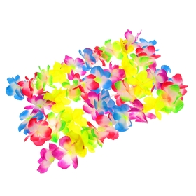 Гавайская гирлянда «Цветочки», разноцветная