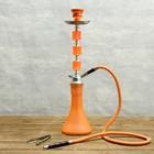 """Кальян """"Манго, 54 см, 1 трубка, колба-ваза оранжевая матовая, шахта хром"""