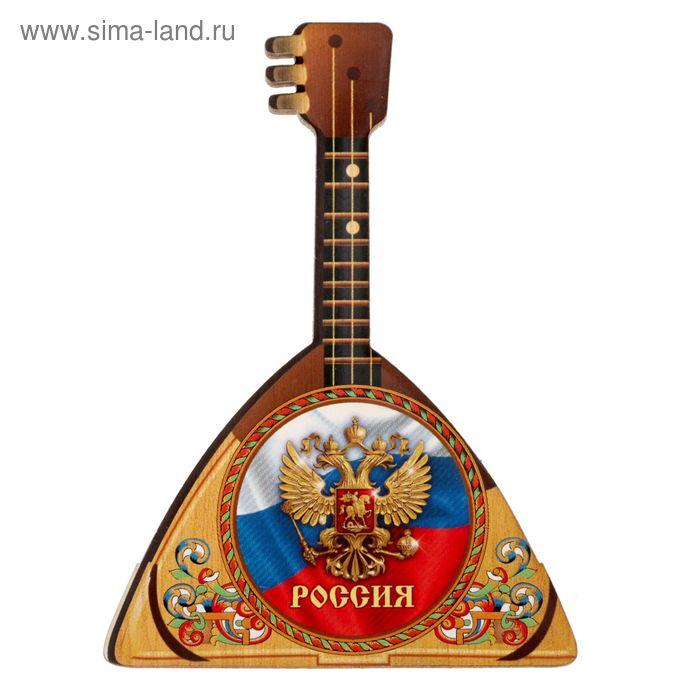 """Магнит в форме балалайки """"Россия"""""""