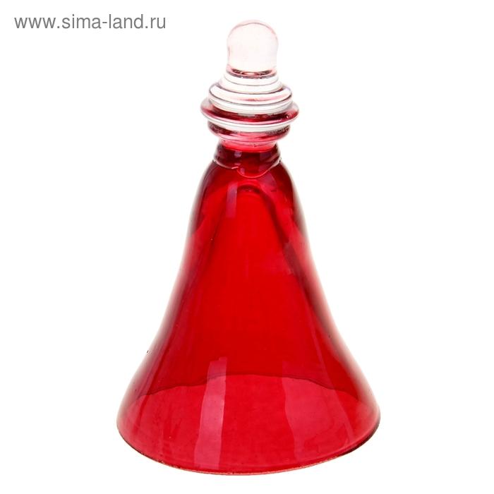 Сувенир Колокольчик Кузен с ручкой красный 2308/4