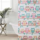 Штора для ванной комнаты Доляна «Совушки», 180×180 см, EVA - фото 4654393