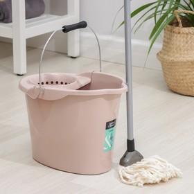 Набор для уборки МОП 'Ориджинал', ведро со сливом 12 л, швабра 110 см, цвет МИКС Ош