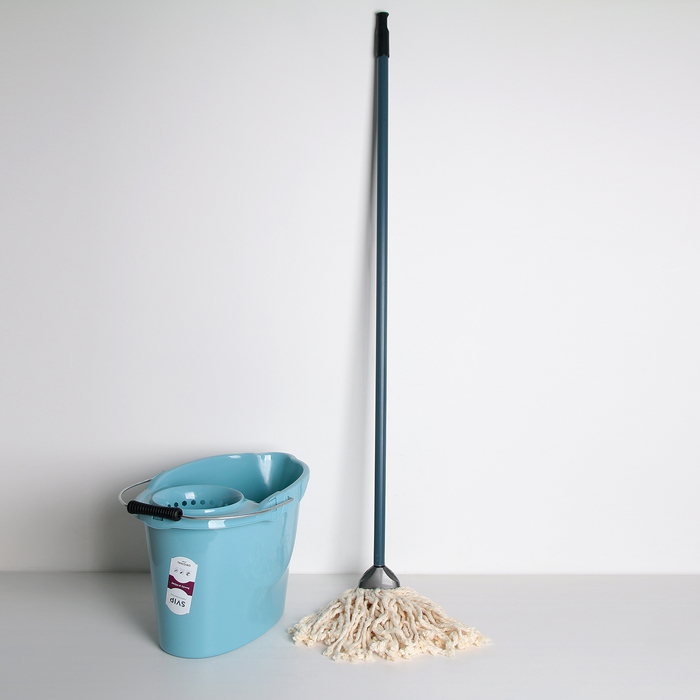 """Комплект для влажной уборки МОП """"Ориджинал"""", ведро со сливом 12 л, швабра 110 см, цвет аметист"""